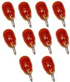 Aerzetix: 10 x Glühbirne wy10 W T13 12 V 10 W bernsteinfarben orange W2.1 x 9.5d