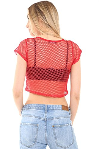 Fashion & Freedom Damen Schlafanzugoberteil Rot