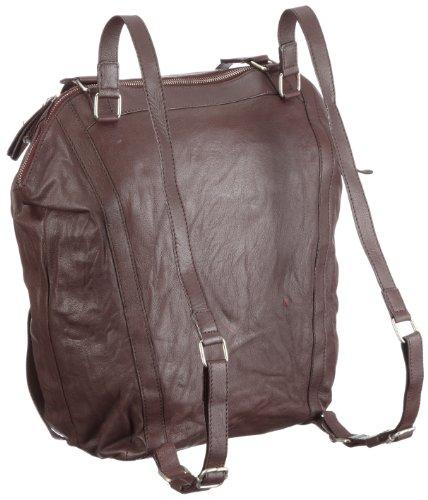 Big Bag Giglio Nero, Damen Rucksäcke 40x40x11 Cm (bxhxt) Marciume (bourgogne / Weinrot)