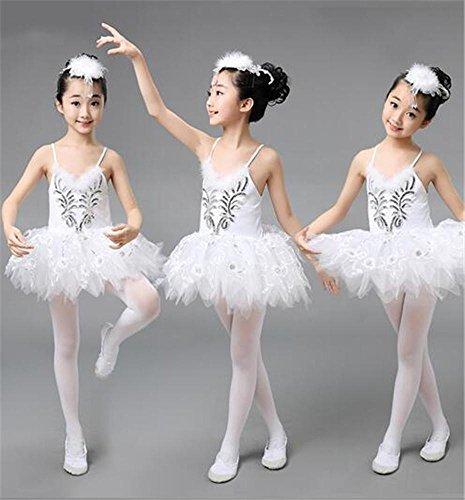 Kinder Ballett Kostüme / weiße Tutus Rock / Mädchen Tanz Ausbildung / Bühnenshow , (Ballett Kostüm Engel)