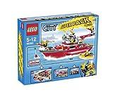 Lego CITY 66360 Feuerwehr Super Pack 4 in 1, Das Set enthält: Lego 7207 Feuerwehrboot + Lego 7213 Feuerwehr-Truck mit Löschboot + Lego 7942 Feuerwehr Pick-up + Lego 7241 Feuerwehrauto - PLAYMOBIL