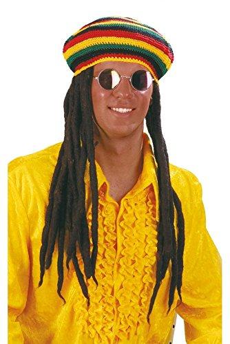 Wilbers Jamaika Mütze mit Rastalocken Karneval ()