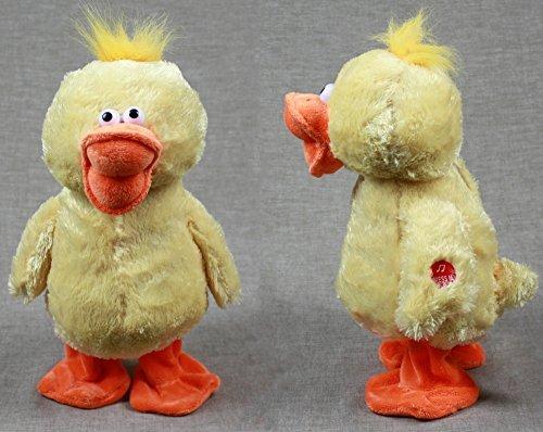 Singende und tanzende Ente aus Plüsch