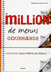 Un million de menus gourmands : Composez vous-même vos menus !