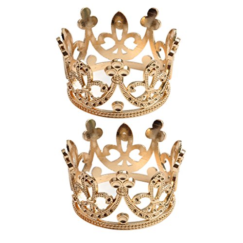 Baoblaze 2pcs Barock Tiara Krone Haarschmuck Königin Hochzeit ()