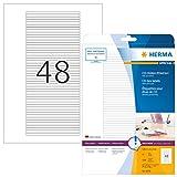 Herma 5078 Etiketten für Rücken von CD Hüllen, selbstklebend (114,3 x 5,5 mm auf DIN A4 Papier, matt) 1.200 Stück auf 25 Blatt, weiß, bedruckbar