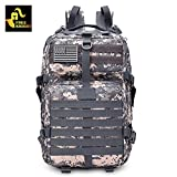 Zorbes Free Knight 9252 Military Tactical Backpack with US Flag Patch