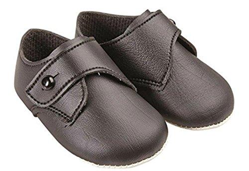 Sevello Clothing , Baby Jungen Lauflernschuhe black matt 1