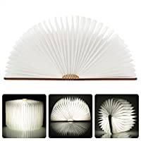 Lixada LED Rechargeable Folding Book Light 4.5W 500LM Battery-Operated Changeable Shape Table Floor Ceiling Bedside Lamp Practical and Beautiful Lighting Fixture Indoor Use Blue from Lixada