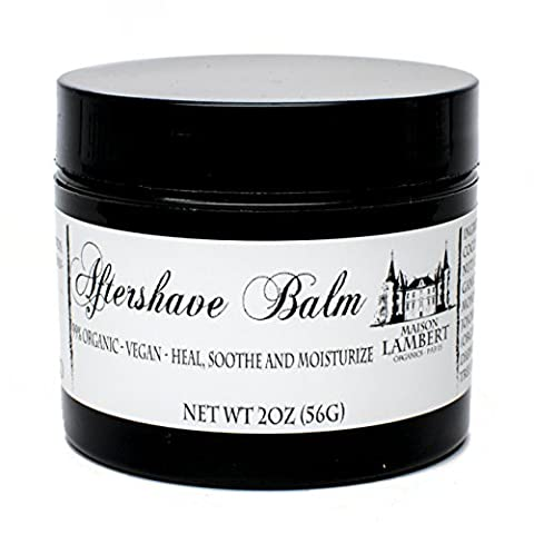 Maison Lambert Organic Aftershave Balm for Men - Amazing for sensitive skin - Protective, soothing and moisturizing, a must have for a perfect shave - Free Shipping - 2oz by Maison (Fragrance Free Face Balm)
