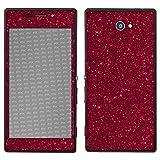 atFolix Sony Xperia M2 Skin FX-Glitter-Ruby-Red Designfolie Sticker - Reflektierende Glitzerfolie