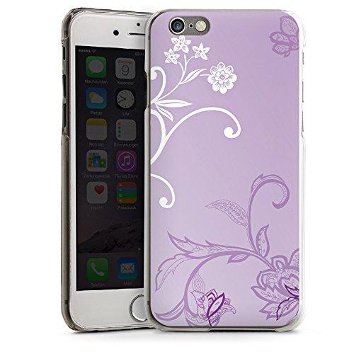 Apple iPhone 5 Housse Étui Silicone Coque Protection Vrilles Fleurs Fleurs CasDur transparent