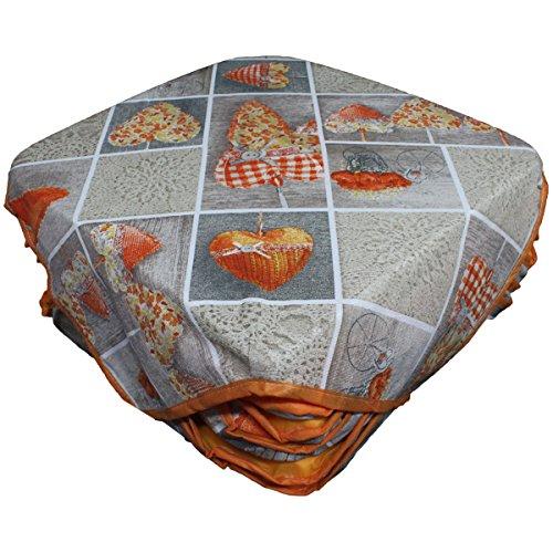 6 cuscini sedie coprisedia imbottiti cuore allungato con alette vari colori-arancione