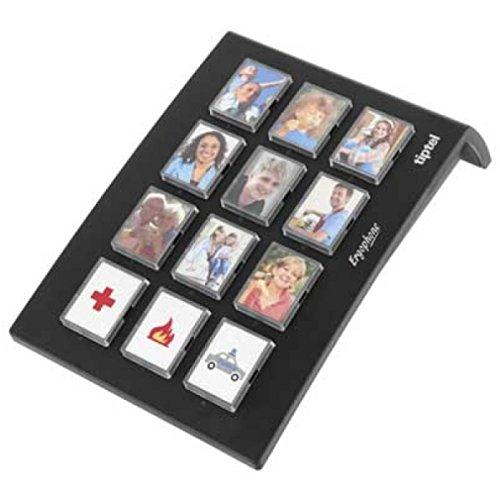 Tiptel Ergophone 12 Wählgerät mit 12 Fototasten schwarz
