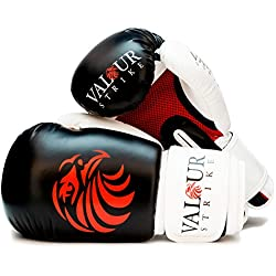 Valour Strike Boxing Gloves Sparring ★ Pro 10oz 12oz 14oz Punch Bag Fight MMA Muay Thai Grappling Fight Adult Mitts Martial Arts Training Kickboxing Punching Glove ★ (12oz)