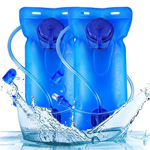 2 litros Bolsa de Agua - WENTS Bolsa de hidratación para mochila de senderismo Agua Mujer Hombre Mochilas Trail Running Ligera para Correr Senderismo o Ciclismo Unisex Adulto 2PCS