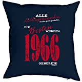 Kissen zum Geburtstag - Lieblingsmenschen ...die Besten wurden 1966 Geboren! Sitzkissen mit Füllung