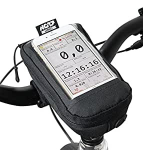 NC-17 connect Bike Case and Smartphone Case / Universal Top Tube Bag or Stem Bag with Velcro Fastener / For iPhone and Samsung Galaxy series / Universal mobile phone pocket with Storage pocket and cable outlet / Water repellent / black / suitable for ALL bicycle types