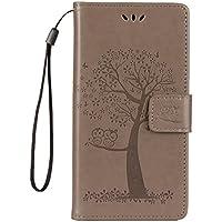 Shinyzone Huawei Mate 10 Pro Brieftasche Leder Flip Hülle,Premium PU Geprägte Eule Baum [Grau],Magnetverschluss... preisvergleich bei billige-tabletten.eu