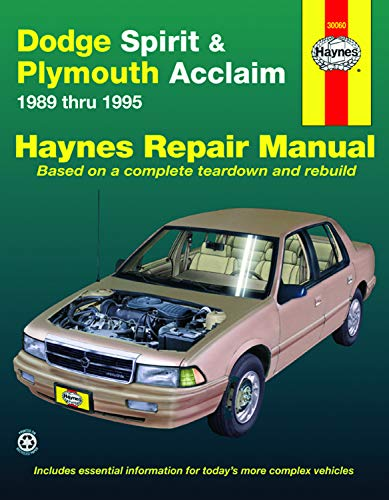 Dodge Spirit and Plymouth Acclaim, 1989-1995 (Haynes Manuals)