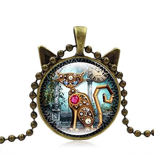 L Beliebter luxusschmuck, gold überzogene pullover langkettige vintage schildkröte anhänger halskette (A) ()