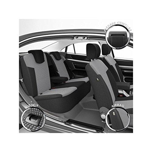 DBS 1012780 Coprisedili Auto/Vettura - Su Misura - Rifinizioni Alta Gamma - Montaggio Rapido - Compatibile Airbag - Isofix