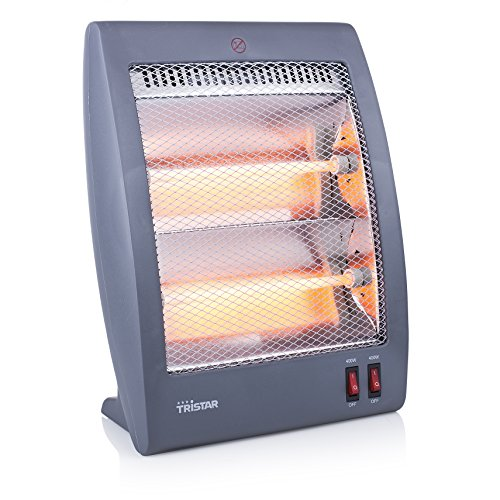 Tristar KA-5011 Calefactor eléctrico, Cuarzo, 2 ajustes de calor 400 W y 800 W, Asa en la parte posterior...