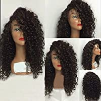 Remeehi Brazilian Kinky Curly 100% Remy capelli umani parrucca anteriore