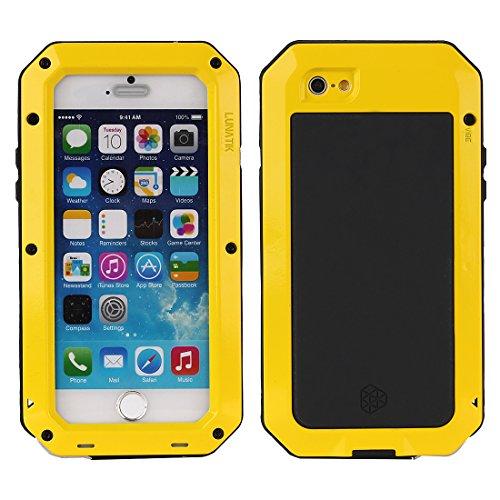 MNBS Phone Coque Etui Housse Antichoc Militaire Heavy Duty Shock Proof Survivor Protective Housse Pour iPhone 6/6SRed Yellow 1