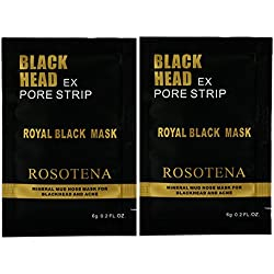 ROSOTENA Black Mask Facial Mask Peel Off Black Head Acne Treatments Face Care Suction (pack of 2)