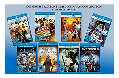 Die große Action Filme 3D Blu-ray Collection (12 Filme in 2D + 3D)