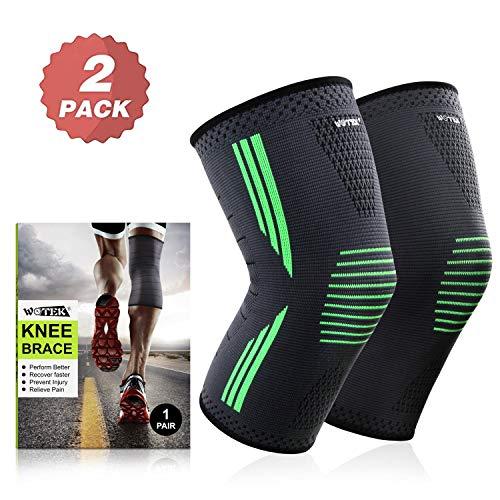 Kniebandage Sport Meniskus Arthrose - für Damen Männer - 2 Stück Kompression Knieschoner Kniestütze Knie Bandage Knee Support, Rutschfest Atmungsaktiv Knieschützer gegen Knieschmerzen für All Sports