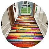 HAIPENG-alfombras pasillo Vistoso Corredor Antideslizante Espalda Largo Entrada Estera para Cocina Personalizado Formal (Color : A, Tamaño : 1.2x3m)