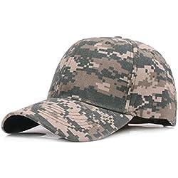 Demarkt 1x Hombres Mujeres Camuflaje al aire libre Sports Cap Gorra de Béisbol Ejército Caza Visera Sombrero Sol al Aire Libre Deporte (verde)