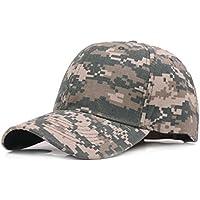 WeiMay Camuflaje Gorra de béisbol cadete ejército Gorras Lavado algodón  ejército Militar Capo Camuflaje 838a57fa45a