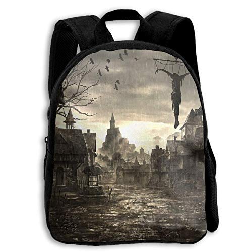 HOJJP Schultasche School Season Kids Backpack Bookbag,Child Halloween Town Shoulder Bag