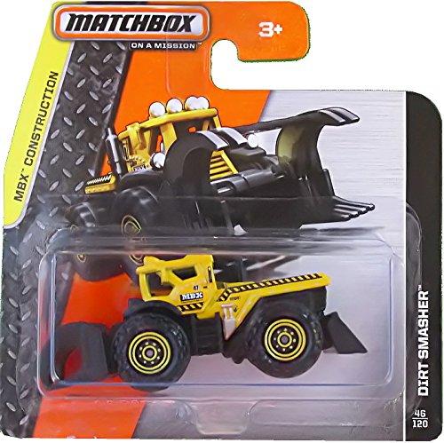 Matchbox Traktor Dirt Smasher Gelb - MBX Construction - Baustelle Matchbox