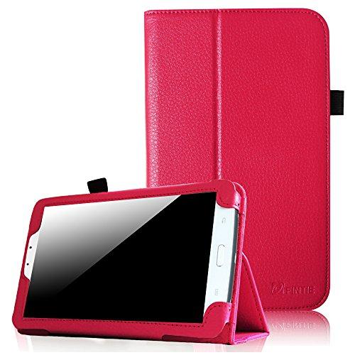 Fintie Samsung Galaxy Tab 3 7.0 (7 Zoll) SM-T210 SM-T211 Hülle Case - Slim Fit Folio Bookstyle Kunstleder Schutzhülle Cover Tasche mit Ständerfunktion und Stylus-Halterung, Magenta