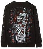 Spiral Direct Gothic Rock - Stud Waist Mini Dress Black Vestito, Nero 001, 40 (Taglia Produttore: Small) Donna
