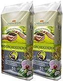 Floragard Kleeschulte Bio Orchideenerde torffrei 2x5 L • 35 % Klimavorteil • Bio-Qualität• 10 L