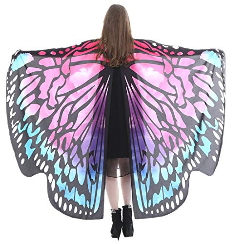 POTOU Hot!!!Soft Fabric Butterfly Wings Shawl Fairy Ladies Nymph Pixie Costume Accessory