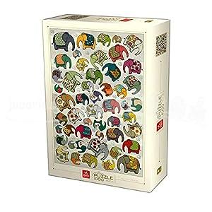 Deico Games 75437/PA 01 D-Toys - Puzzle (1000 Piezas), diseño de Elefantes