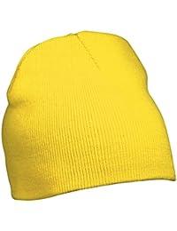 Myrtle Beach Strick Beanie Nr.1 MB7580, Farbe: gelb Wintermütze