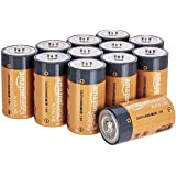 AmazonBasics C Size Cell Everyday Alkaline Batteries (12-Pack) - Appearance May Vary
