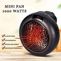 Mini Estufa Eléctrica Calefactor Cerámico de Aire Caliente de Ventilador - Calefactor Portátil Pared con Salida