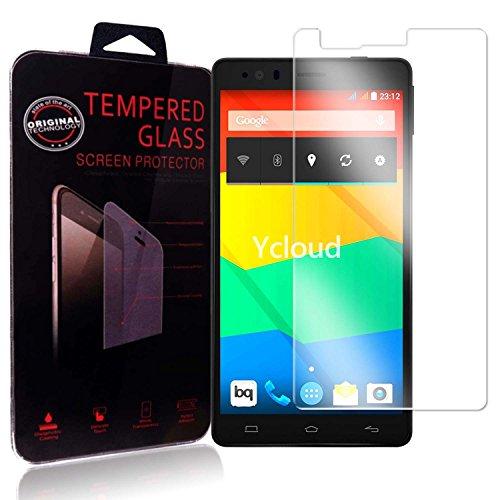 Ycloud Panzerglas Folie Schutzfolie Bildschirmschutzfolie für BQ Aquaris E6 screen protector mit Härtegrad 9H, 0,26mm Ultra-Dünn, Abger&ete Kanten