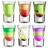 Idéal pour les fêtes, ce set de 6 verres à shot VonShef sera parfait pour servir toute une variété de liqueurs et d'alcools, mais aussi pour mesurer les doses d'alcool lorsque vous préparez vos cocktails. Ces verres peuvent aussi être utilisés pour s...