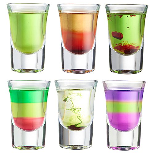 VonShef Set de 6 vasos de chupito de 25ml