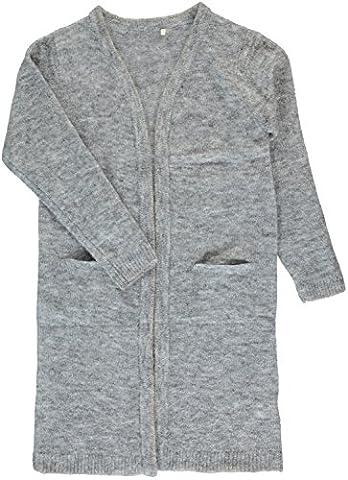 Name it Long Cardigan lange Strickjacke Nitluna kids , Farbe:grey melange, Größe:146-152