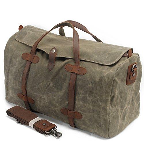 MaiJin Unisex Impermeabile Borse da Viaggio Vintage Army Green